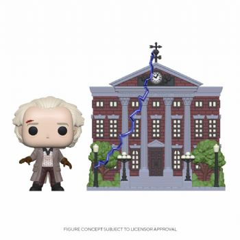 Funko Pop! Vinyl Back to the Future Doc with Clock Tower Deluxe Set